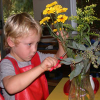 Flower-Arranging-At-Montessori-PreSchool